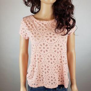 $8 w bundle LOFT Pink Floral Short Sleeve Tee